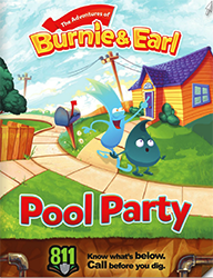 Burnie and Earl Pool Party Coloring Book